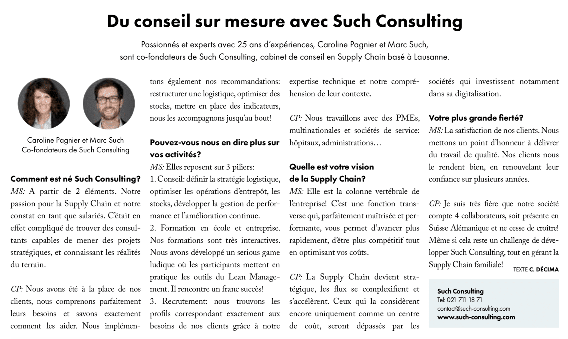 PME Mag Avril 2019 Such Consulting